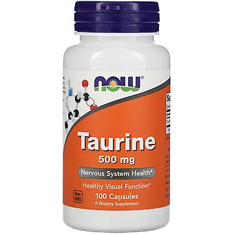 Maintenant Aliments, Taurine, 500 mg, 100 Capsules
