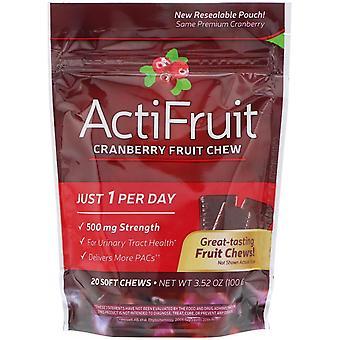 Nature's Way, ActiFruit, Cranberry Fruit Chew, 20 Soft Chews