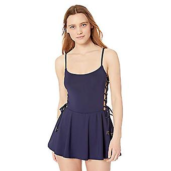 Anne Cole Studio Women-apos;s Lace Up Sexy Swimdress, New Navy, 8