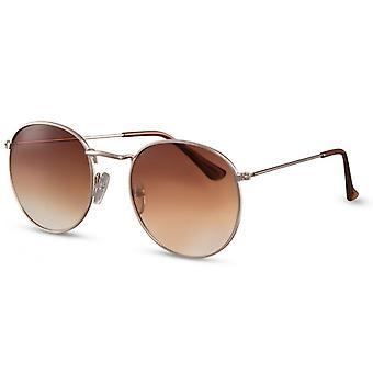 Solglasögon Unisex Panto guld/brun (CWI417)