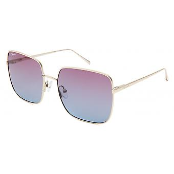 Sunglasses Women's Bloom Polarized Gold with Blue/Pink Lens (pblo0102/P)