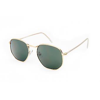 Sonnenbrille Unisex    gold/grün (20-120)