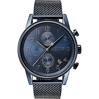 Hugo Boss 1513538 Blue Stainless Steel Watch Men's Watch