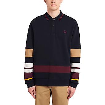Fred Perry Men's Striped Sleeve Polo T-Shirt Regular Fit