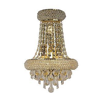 inspirert diyas - alexandra - vegglampe stor 3 lys fransk gull, krystall