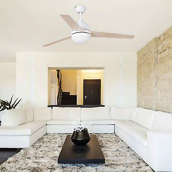 Ceiling Fan 132cm White 3 Blades 2x E27