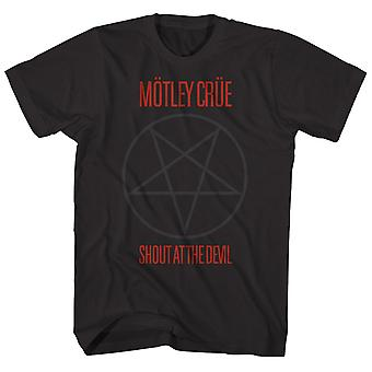 Motley Crue T Shirt Pentagram Shout At The Devil Motley Crue Shirt