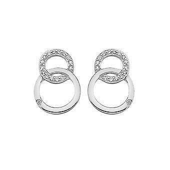 Hete diamanten Bliss elkaar grijpende cirkels Earring DE533