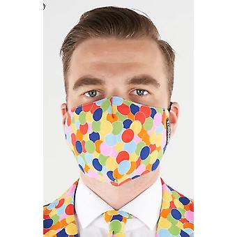 Mouth mask Confetti colorful confetti pattern with clips washable confetti mask