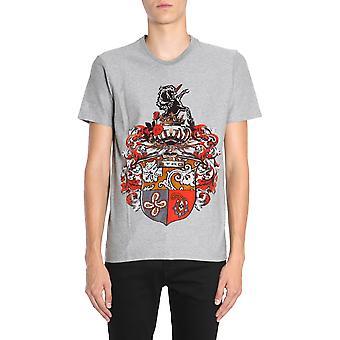 Etro 1y02086403 Men's Grey Cotton T-shirt