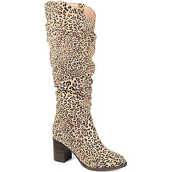 JC JOURNEE COLLECTION Women's Shoes ANEIL-TAU-065 Suede Closed Toe Knee High Fashion Boots
