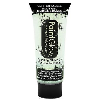 PaintGlow Glitter Face And Body Gels - White - 13ml