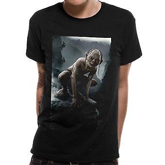 Men's Lord of the Rings Gollum Scene Black Crew Neck T-Shirt
