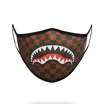 Sprayground Sharks In Paris Mask - Brown