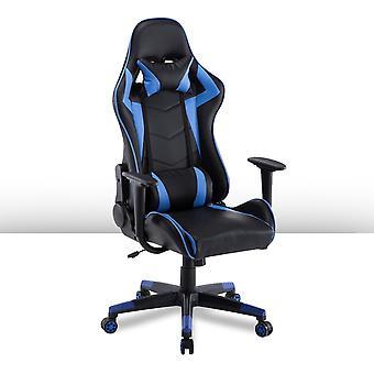 Ocazi Gamestoel / Bureaustoel – Ergonomisch – Gaming Chair – Gaming Stoel – Volwassenen/Kind – Met Nekkussen – Blauw – Las Vegas