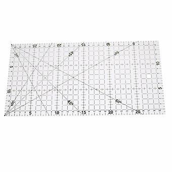 Règle transparente de dessin alignée de patchwork acrylique