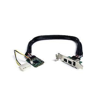 Startech.com 3 port 2b 1a 1394 mini pci express firewire card adapter - firewire adapter - pcie mini