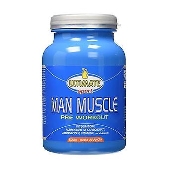 Man Muscle Pre Workout Orange 500 g of powder