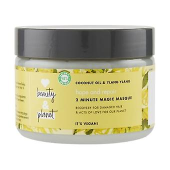 Coconut oil and Ylang Ylang flower mask 300 ml of cream