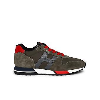 Hogan Hxm3830an51n5tt271f Mænd's Grønne Læder Sneakers