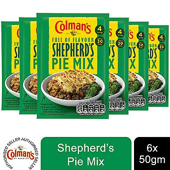6 Pack Colman's Full of Flavour Recipe Mix Shepherd Pie, 50g
