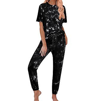 Autumn Tie Dye Pajama Set Sleep Wear Lounge Sleeping Nightwear