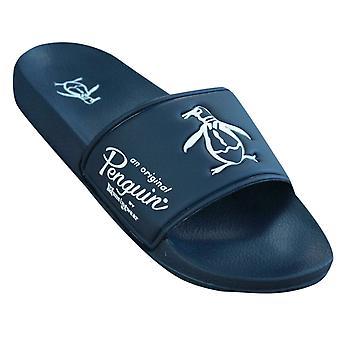 Penguin Slip On Navy Blue Synthetic Mens Slider Flip Flops PEN0090 887 Y32A/B