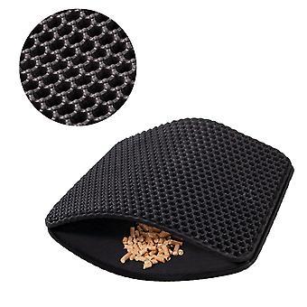 Zwarte kattenmat 55x75 cm