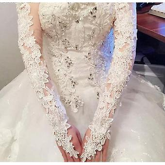 Bride Hollow Lace Wedding Gloves