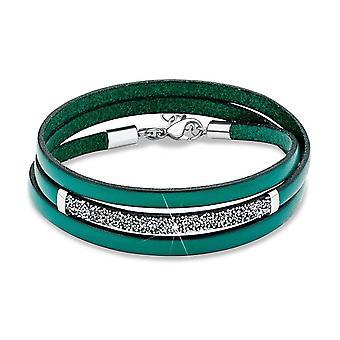 s.Oliver juvel damer armband rostfritt stål läder grön SO979/1 - 463140