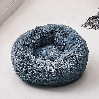 Round Soft Warm Long Plush Bed, Small Cats Nest, Autumn, Winter Warm Sleeping