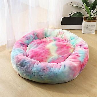 Round Soft Warm Long Plush Bed, Small Cats Nest, Autumn, Winter Warm Sleeping