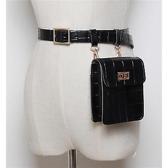 Vintage kožená taška do pasu