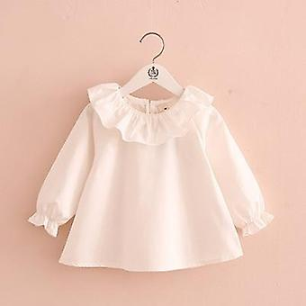 Little Shirts, Spring Fashion Ruffle Neck Blouses, Cute Long Sleeve Tops