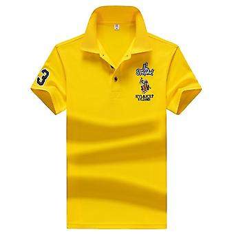 Summer 95%synthetic Fiber Polo Short Sleeve Embroidered Business Casual Shirt
