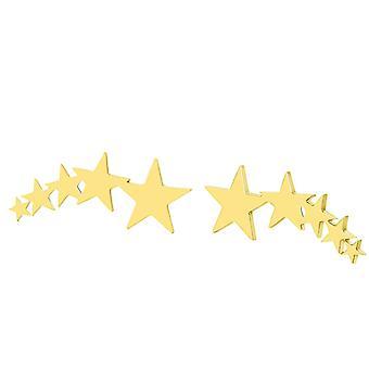Gold Ear Climbing Five Stars Earrings