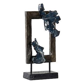 Dekorativ figur Dekodonia Abstrakt metalharpiks (18 x 9 x 39 cm)