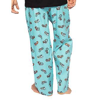 Cyberjammies Lucas 6573 Menăs Blue Motocicleta Bumbac Pijama Pant