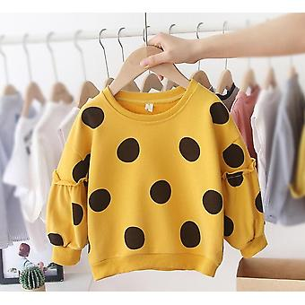 Baby Long Sleeve Cotton Dot Hoodies / Sweatershirt - Autumn Winter Casual Loose