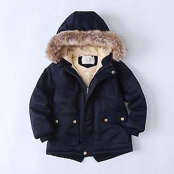 Baby Faux Fur Collar Jacket, Warm Teen Winter Christmas Jacket For Coat