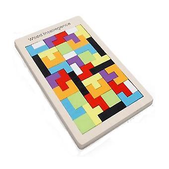 Puinen Tangram Jigsaw Brain Tetris