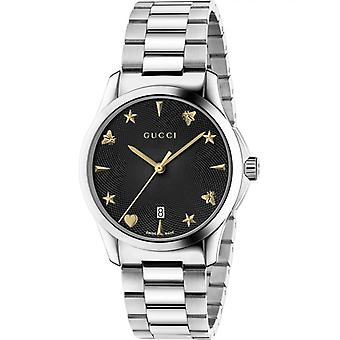 Gucci Ya1264029 Black Dial Stainless Steel Strap Unisex Watch