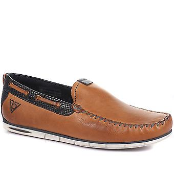 Bugatti Mens Leather Moccasin Loafers