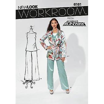 New Look Sewing Pattern 6161 Misses Top Pants Jacket Size 4-16 Euro 30-42