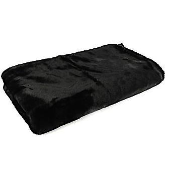 plaid Jozias 154 x 130 cm fleece black