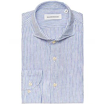 Baldessarini Linen Striped Henry Shirt