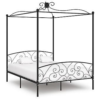vidaXL à baldaquin de la structure de lit à baldaquin 180 x 200 cm