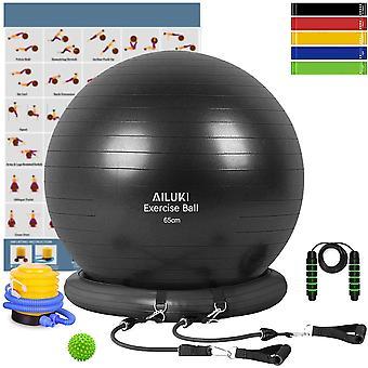 Gerui Yoga Ball, Exercise Ball Fitness Balls Stability Ball Anti-Slip Anti- Burst for Yoga,Pilates,