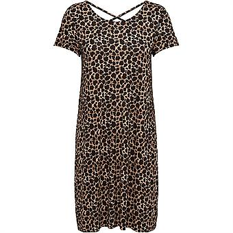 Only Womens Sleeve Printed Maxi Dress Scoop Neck Short Sleeve