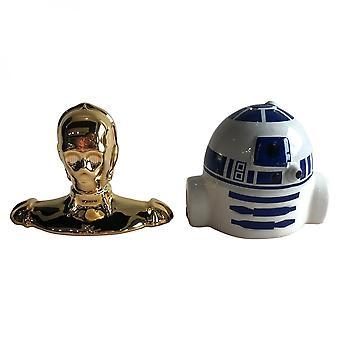 Star Wars R2-D2 & C-3PO Sculpted Ceramic Salt & Pepper Set